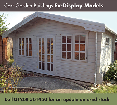 at carr garden buidlings we have a number of sales and display sites around essex and the m25 and as we are constantly updating our stock at any one time