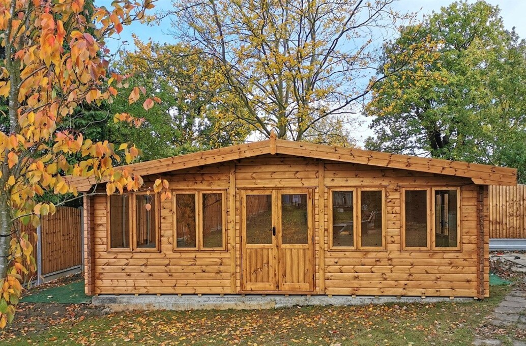 Premium quality 68 mm log cabins!