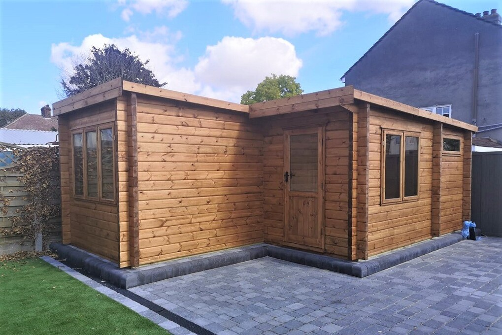 Bespoke made 44 mm & 68 mm log cabins